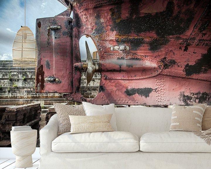 Sfeerimpressie behang: Scheepsschroef van Olivier Photography