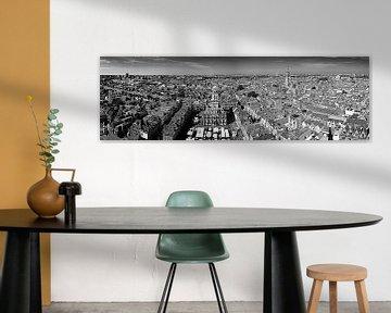 Panorama Delft zwart / wit