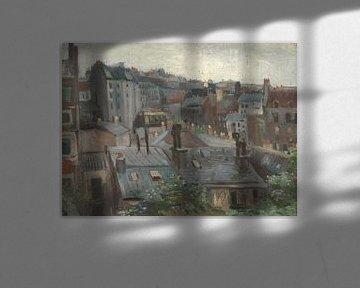 Gezicht vanuit Vincents atelier, Vincent van Gogh