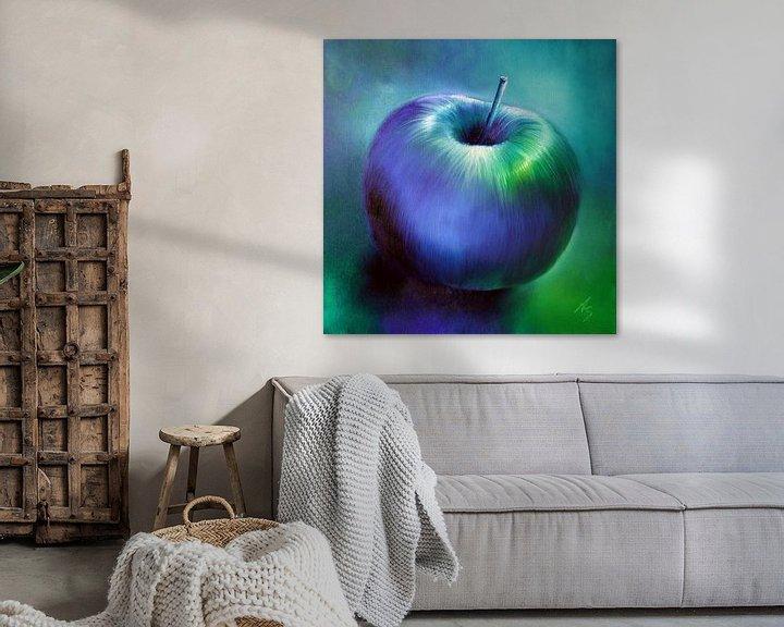 Beispiel: Blauer Apfel von Annette Schmucker