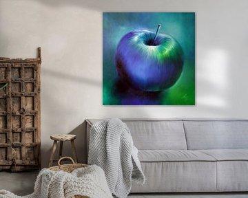 blå æble