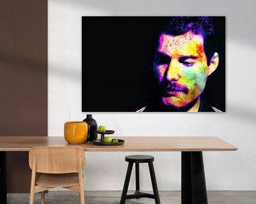 Freddie Mercury Abstract Portret van Art By Dominic