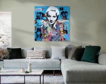 Motiv Marlene Dietrich - Dadaismus Nonsens von Felix von Altersheim