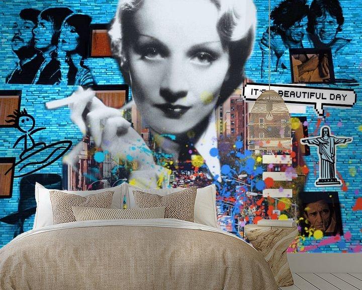 Beispiel fototapete: Motiv Marlene Dietrich - Dadaismus Nonsens von Felix von Altersheim