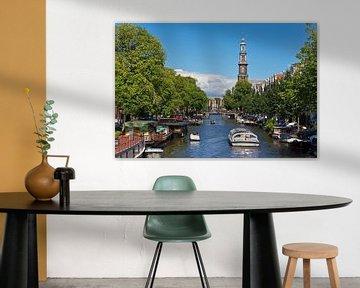 Prinsengracht en Westerkerk Amsterdam