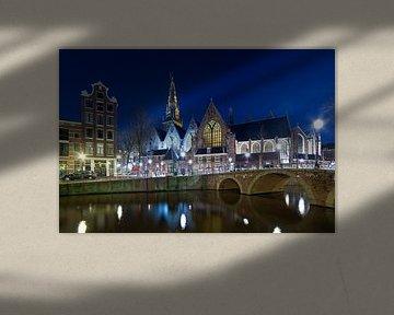 Nachtfoto Oude Kerk Amsterdam
