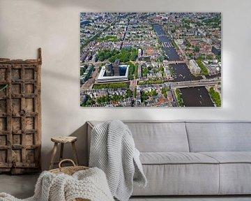 Vue aérienne du Pijp et de l'Amstel à Amsterdam