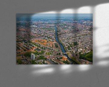 Vue aérienne d'Amsterdam Ouest