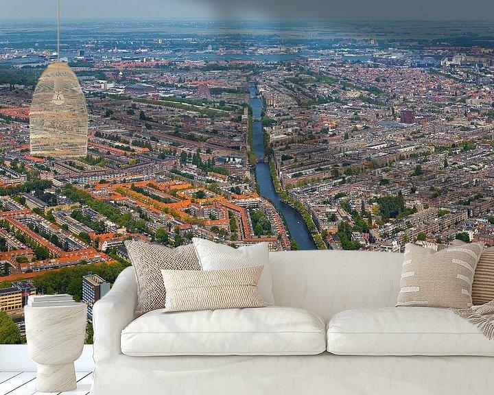 Sfeerimpressie behang: Luchtfoto Amsterdam-West van Anton de Zeeuw
