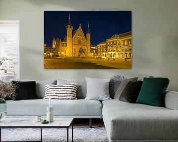 Nachtfoto Binnenhof in Den Haag