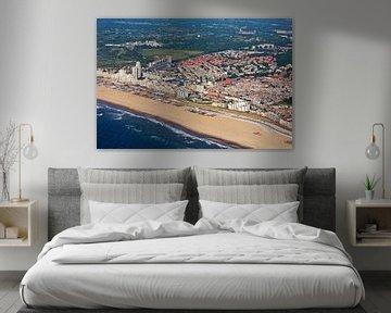 Luchtfoto Scheveningen met strand