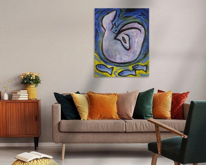Sfeerimpressie: vogel, paard en vissen (2) van Verbeeldt