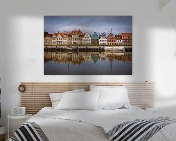 Glückstadt - Historische Häuser am Hafen von Sabine Wagner