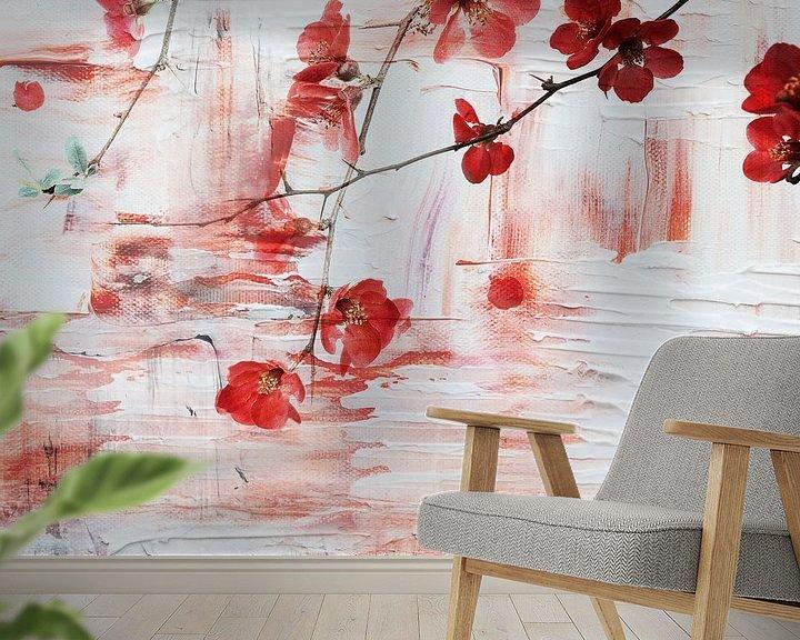 Beispiel fototapete: Red Blossom von Jacky Gerritsen