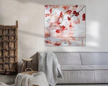 Rode Bloesem van Jacky Gerritsen
