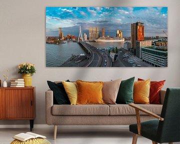 cruiseseizoen gestart in Rotterdam panorama 2 von Midi010 Fotografie