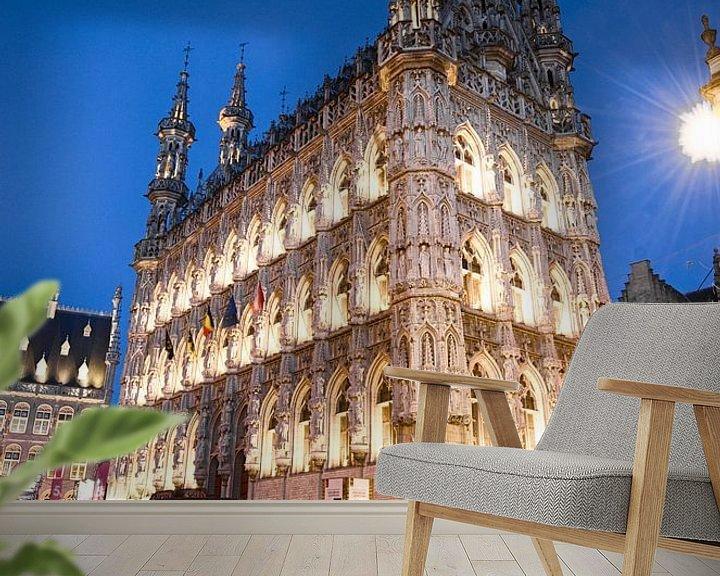 Sfeerimpressie behang: Stadhuis van Leuven van Mark Bolijn