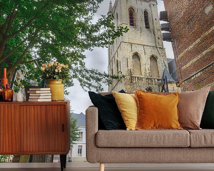 Sfeerimpressie behang: Kerk in Leuven van Mark Bolijn