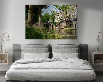 Oudegracht met Smeebrug in Utrecht