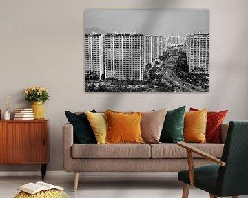 De skyline van Incheon van Eelkje Colmjon