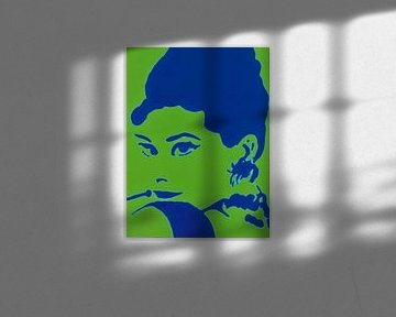Audrey in Grün und Blau. von Ineke de Rijk