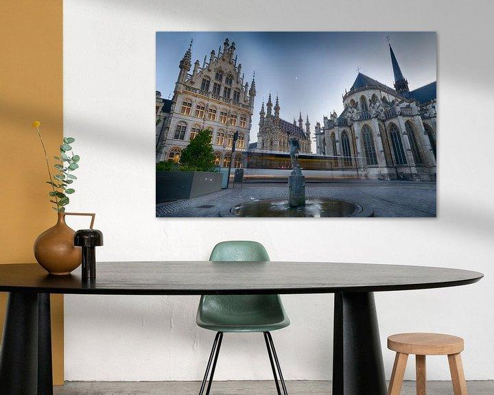 Sfeerimpressie: Stadscentrum Leuven van Mark Bolijn