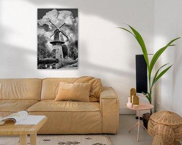 Schwarz/Weiß, Mill, Schiedam, Niederlande von Maarten Kost