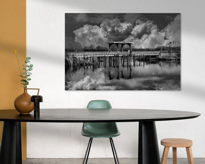 Beispiel: Balck/Weiß, Die Brücke, Thorn, Limburg, Die Niederlande von Maarten Kost