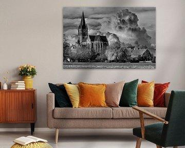 Black/White,Church, Thorn, Limburg,The Netherlands von Maarten Kost