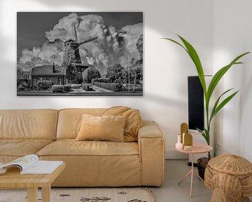Schwarz/Weiß, Mill, Arkel, Niederlande von Maarten Kost