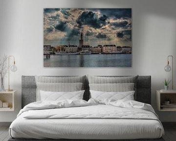 Wolken, Licht, Kampen, Niederlande von Maarten Kost