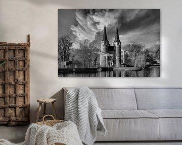 Black/White, Clouds, Delft, The Netherlands von Maarten Kost
