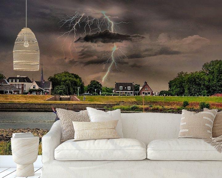 Beispiel fototapete: Lightning, Schalwijk, The Netherlands von Maarten Kost