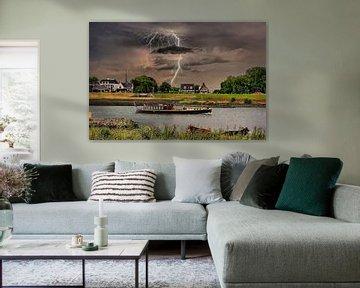 Lightning, Schalwijk, The Netherlands von Maarten Kost
