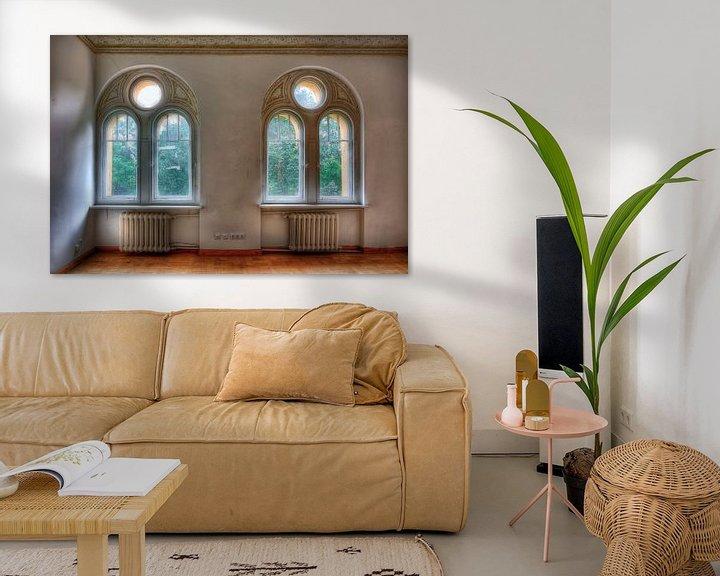 Beispiel: Lost Place - Rundbogenfenster von Sabine Wagner