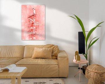 Grafikkunst WEGWEISER | living coral von Melanie Viola