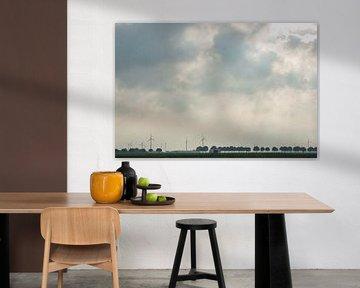 Windmolens bij Almere (Flevoland) van Kaj Hendriks