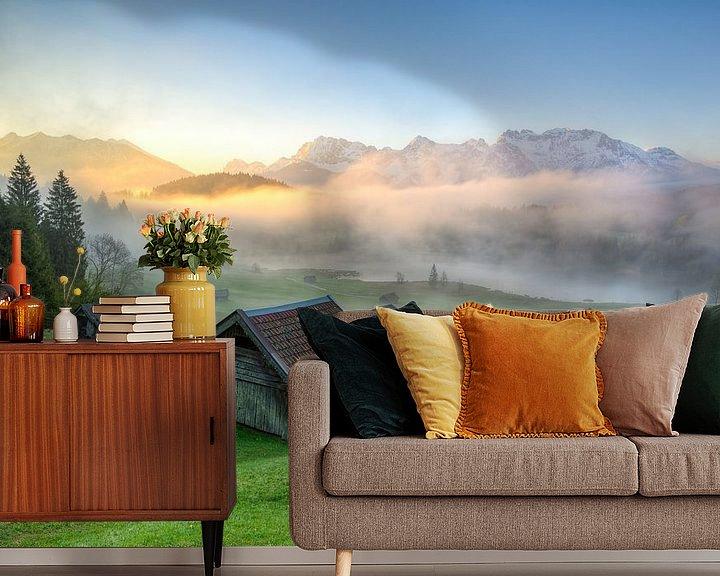 Beispiel fototapete: Nebel am Geroldsee von Michael Valjak