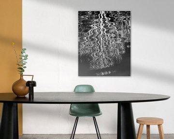 Negative Reflexion Schwarz-Weiß. von Connie Posthuma