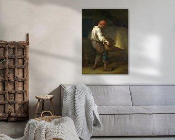 Un Vanneur (Trennen der Spreu vom Korn), Jean-François Millet