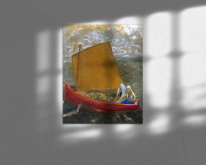 Beispiel: La Voile jaune (The Yellow Sail), Odilon Redon
