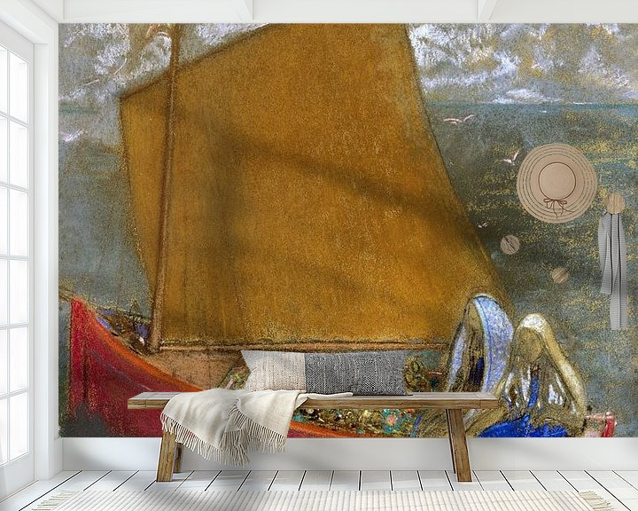 Beispiel fototapete: La Voile jaune (The Yellow Sail), Odilon Redon