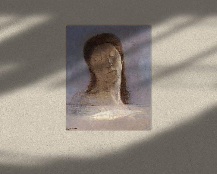 Beispiel: Gesloten ogen, Odilon Redon