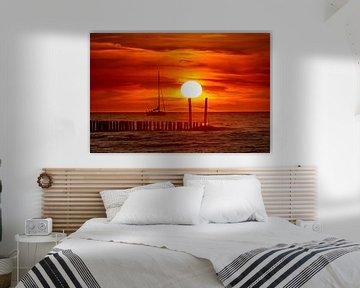Zonsondergang bij Breskens van Gerry van Roosmalen