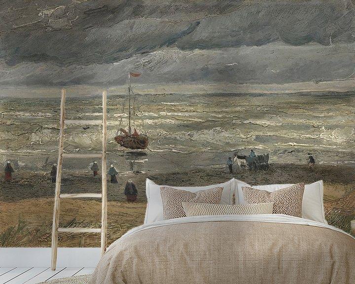 Beispiel fototapete: Seelandschaft in Scheveningen, Vincent van Gogh