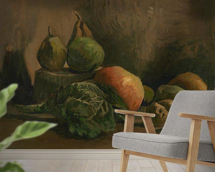 Beispiel fototapete: Still Life with Vegetables and Fruit, Vincent van Gogh
