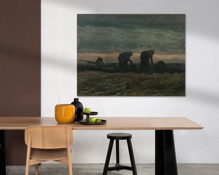Beispiel: Women on the Peat Moor, Vincent van Gogh