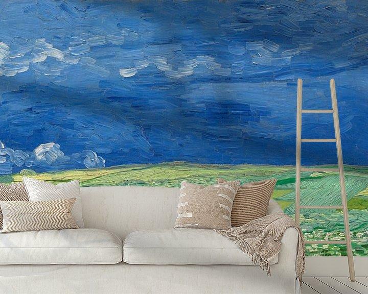 Beispiel fototapete: Weizenfeld unter Gewitterwolken, Vincent van Gogh