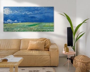 Korenveld onder onweerslucht, Vincent van Gogh