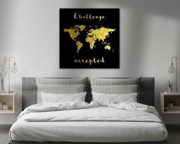 Challenge Weltkarte Student Studieren Geschenk von Felix Brönnimann